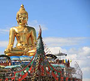 Golden Buddha statue in Chiang Rai.