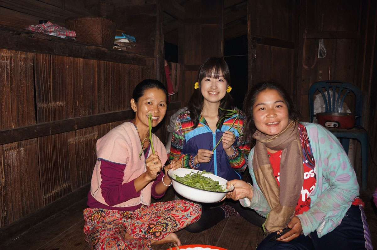 A typical thai dinner at the Doi Inthanon tour.