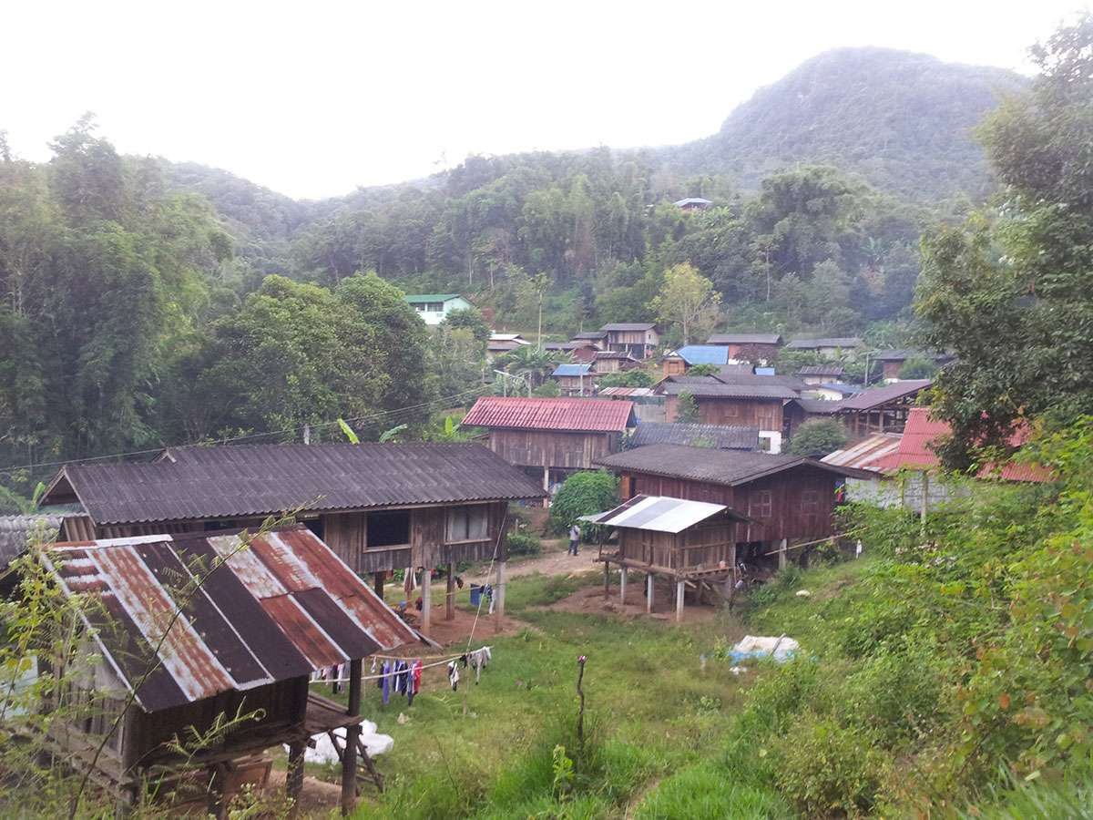 Village where we sleep at Doi Inthanon.